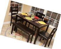 Home Life 5pc Dining Dinette Table Chairs & Bench Set