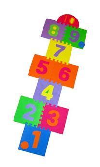 Hopscotch Playmat Foam Interlocking Puzzle Floor Mat - 10