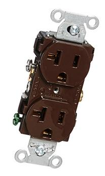 Hubbell CR20 Duplex Receptacle, Common Ground, 20 amp, 125V