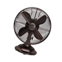 "Hunter 12"" Retro Table Fan in Oil-Rubbed Bronze"