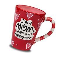 """I'm A Mom, What's Your SuperPower"" 12oz Coffee Mug"