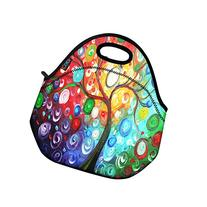 ICOLOR Colorful Tree Insulated Neoprene Lunch Bag Tote