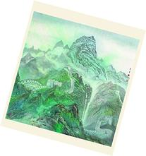 INK WASH Unframed Chinese Green Mountain Landscape Painting