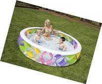 INTEX Swim Center Pinwheel Inflatable Kids Swimming Pool |