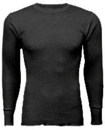 Indera - Big Mens Thermal Long John Top 810LSX, Black 23479-