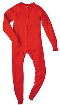 Indera - Boys Rib Knit Union Suit, Red 23475-Large