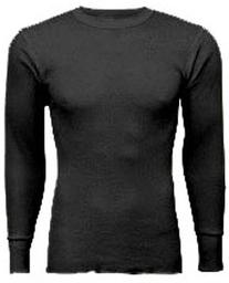 Indera - Mens Long Sleeve Thermal Top, 800LS,Black,X-Large