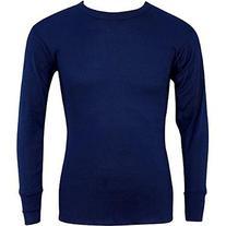 Indera - Mens Long Sleeve Thermal Top, Navy, 810LS 27465-