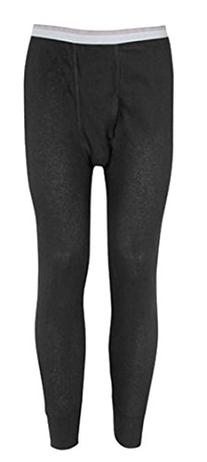 Indera - Mens Thermal Long John Pant 810DR , Black 23476-