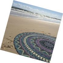 Indian Mandala Round Roundie Beach Throw Tapestry Hippy Boho