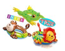 Intex Big Animal Ring Pool Floats Monkey, Lion & Frog Gift