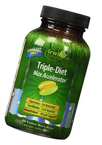 Irwin Naturals Triple Diet Max Accelerator Capsules, 72