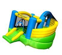 Island Hopper Curved Double Slide Recreational Bounce House