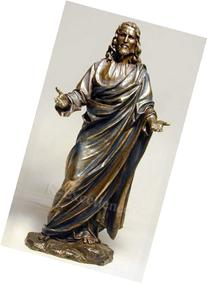 JESUS CHRIST BLESSING STATUE Real Bronze Powder Cast Statue