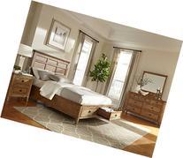 Janes Gallerie Alta Solid Brushed Ash Queen Storage Bedroom
