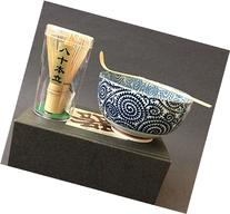 Japanese Porcelain Karakusa Swirl Matcha Cup Bowl Bamboo