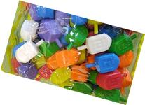 Jerusalem Driedel Colored Traditional Plastic Hanukkah