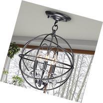 Jojospring Benita 3-light Antique Globe Crystal Flush Mount