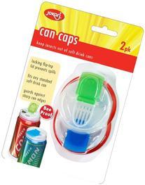 Jokari Beverage Deluxe Can Caps 2 Pack Soda pop Lids - KEEPS