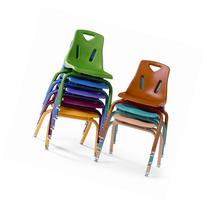 Berries Plastic Chair  Leg Finish: Powder Coated, Color: