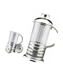 Kabalo 800ml / 8-cup Large Stainless Steel Glass Cafetiere