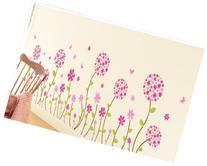 Kappier Beautiful Pink Flowers with Butterflies Peel & Stick