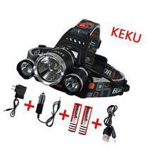 KEKU LED High Power Headlamp Rechargeable Waterproof Head