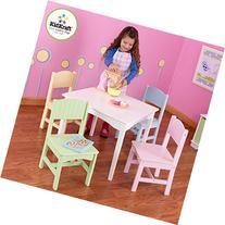 KidKraft Nantucket Table & 4 Pastel Chairs
