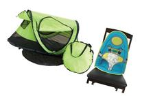 Kidco PeaPod Plus Travel Bed with Baby Sitter, Kiwi