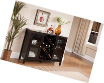 Kings Brand Furniture Wood Wine Rack Console Sideboard Table