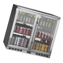 KingsBottle 169 Can 2-Door Under Counter Beverage Cooler,