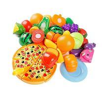 Kitchen Toys Fun Cutting Fruits Vegetables Pretend Food