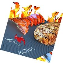 Kona Best BBQ Grill Mat - Heavy Duty 600 Degree Non-Stick