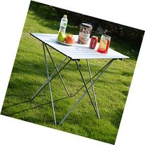 Kseven Aluminum Portable Roll Up Folding Table with Carrying