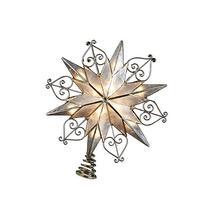 Kurt Adler 10-Light 6-Point Capiz Star Treetop with Scroll