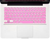 Kuzy - ROSE PINK Keyboard Cover Silicone Skin for MacBook