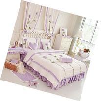 LELVA Rustic Dandelion 3d Bedding Set,Kids Unique Flannel