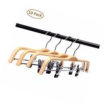 LOHAS Home 10-Pack Light Wooden Hangers, Pants and Clothes