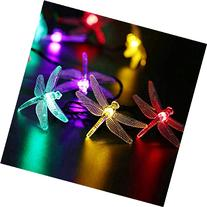 Dragonfly Solar String Lights, 15.7ft 20 LED Fairy Garden