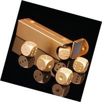 LZWIN 5 in 1 Precision Aluminum Alloy Solid Metal Dice Poker