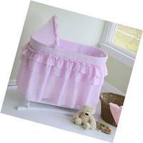 Lamont Limited Home Bassinet, Full Skirt, Pink
