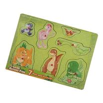 Land Before Time 7 Piece Wood Peg Puzzle