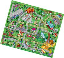 "Large ""My Town"" Play Mat with Airport, Town, Train Tracks"