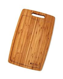 Large, Thick Bamboo Cutting Board, 15 x 9.5 Inch Vertical
