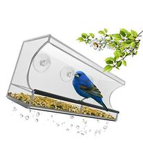 Best Window Bird Feeder with Strong Suction Cups & Seed Tray