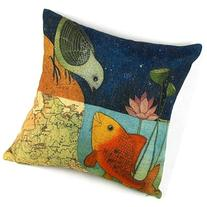 Leaveland Bird & Fish in the Two World Forever Throw Pillow