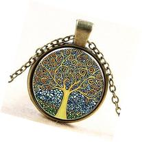 Lemonc The tree of life time ruby pendant necklace