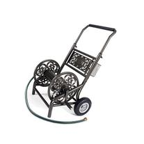 Liberty Garden 301 Never Flat 2-Wheel Decorative Garden Hose Reel Cart, Holds-200-Feet of 5/8-Inch Hose - Bronze