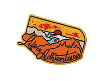 Asilda Store Life of Adventure Embroidered Sew or Iron-on
