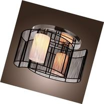 LightInTheBox Black Semi Flush Mount with 2 Lights, Mini
